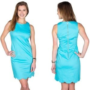 SCALLOP DRESS IN CRYSTAL BLUE BY SOUTHERN TIDE